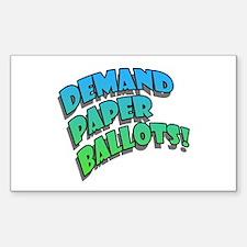 Demand Paper Ballots! Rectangle Decal