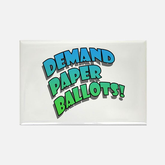 Demand Paper Ballots! Rectangle Magnet (100 pack)