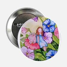 """Garden Pansy Fairy 2.25"""" Button"""