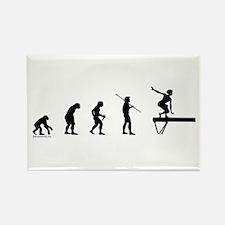 Gymnast Evolution3 Rectangle Magnet (10 pack)