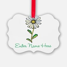 Personalized Daisy Ornament