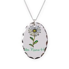 Personalized Daisy Necklace