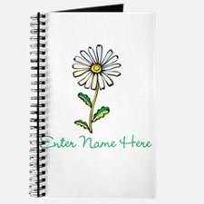 Personalized Daisy Journal