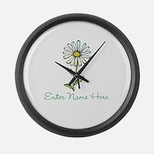 Personalized Daisy Large Wall Clock