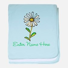 Personalized Daisy baby blanket