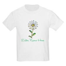 Personalized Daisy Kids Light T-Shirt