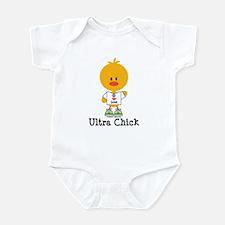 Ultra Chick Peace Love 100 Infant Bodysuit