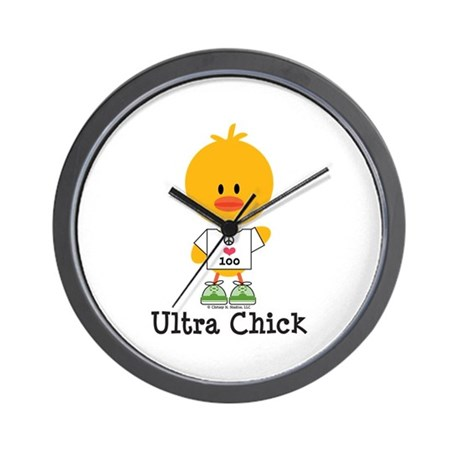 Ultra Chick Peace Love 100 Wall Clock