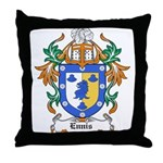 Ennis Coat of Arms Throw Pillow