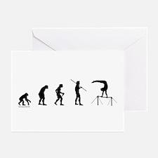Gymnast Evolution5 Greeting Cards (Pk of 20)