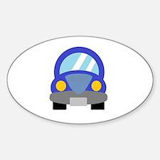 Blue Car Sticker (Oval)