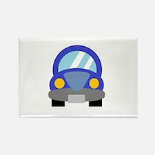 Blue Car Rectangle Magnet