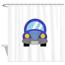 Blue Car Shower Curtain