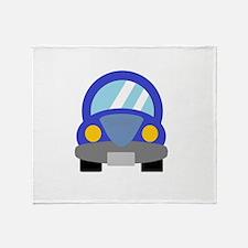 Blue Car Throw Blanket