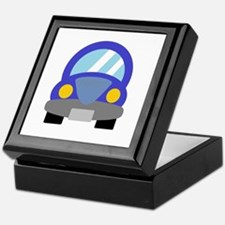 Blue Car Keepsake Box