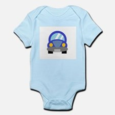 Blue Car Infant Bodysuit
