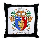 English Coat of Arms Throw Pillow