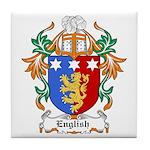 English Coat of Arms Tile Coaster