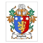 English Coat of Arms Small Poster