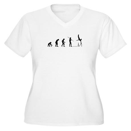 Gymnast Evolution8 Women's Plus Size V-Neck T-Shir
