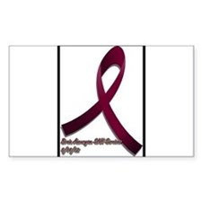 Brain aneurysm awareness ribbon Decal