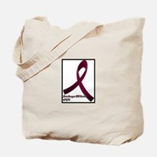 Brain aneurysm awareness ribbon Tote Bag