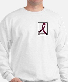 Brain aneurysm awareness ribbon Sweatshirt