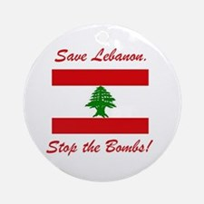 Save Lebanon Ornament (Round)