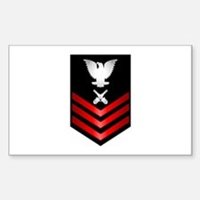 Navy Gunner's Mate First Class Sticker (Rectangle)