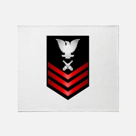 Navy Gunner's Mate First Class Throw Blanket