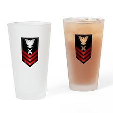 Navy Gunner's Mate First Class Drinking Glass