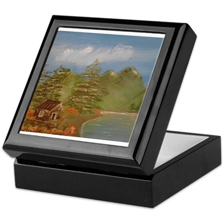 Cabin in the mountains Keepsake Box