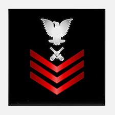 Navy Gunner's Mate First Class Tile Coaster