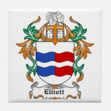 Elliott Coat of Arms Tile Coaster