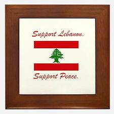Support Lebanon Framed Tile