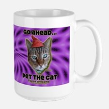 Go Ahead, Pet the Cat - Mug- Purple