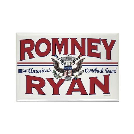 Romney Ryan 2012 Rectangle Magnet