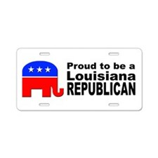 Louisiana Republican Pride Aluminum License Plate