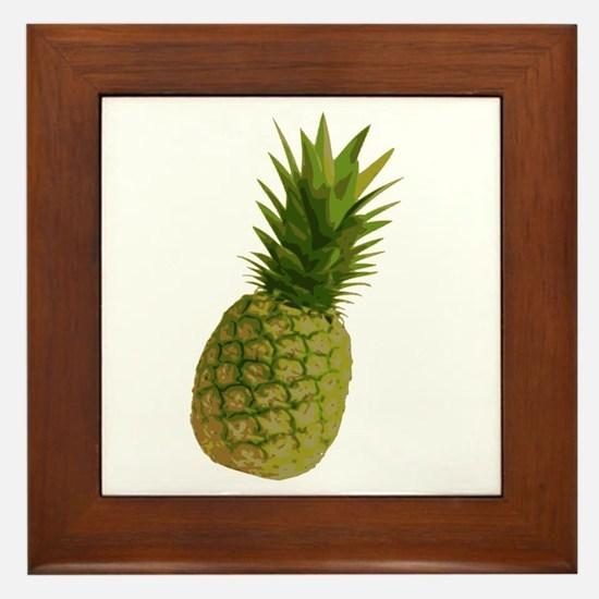 Pineapple Framed Tile
