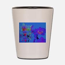 neon orchids Shot Glass