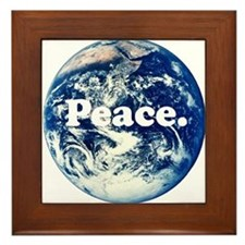 Support Peace Framed Tile