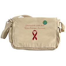 Brain aneurysm awareness Messenger Bag