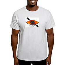 Kayakgirlz Organge Kayak Ash Grey T-Shirt