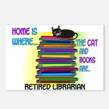 Retired Librarian Home is where Cat books.PNG Post