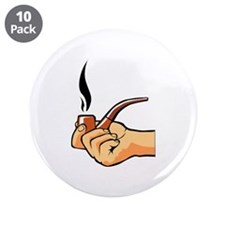 "Smoking 3.5"" Button (10 pack)"