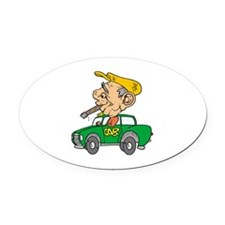 Smoking Oval Car Magnet