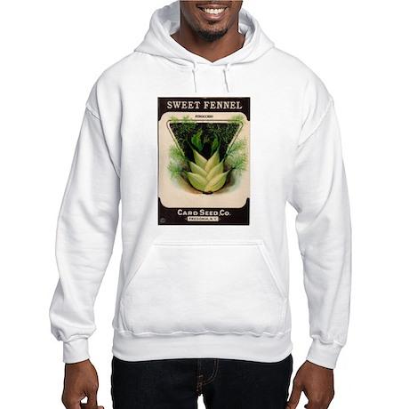 Antique Seed Packet Art Fennel Hooded Sweatshirt