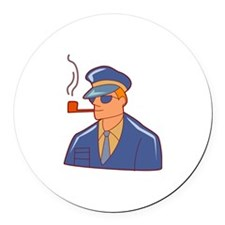 Smoking Round Car Magnet