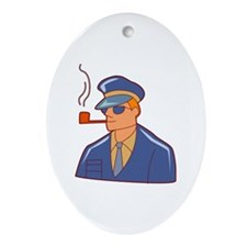 Smoking Ornament (Oval)