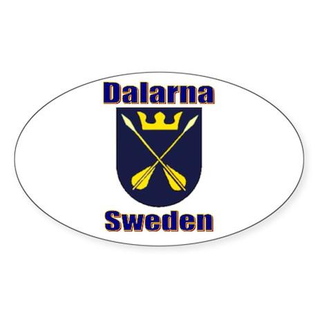 Dalarna Shield Oval Sticker